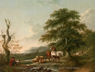 Landscape with a Shepherd painting reproduction, Charles Towne