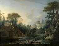 Landscape with a Watermill painting reproduction, Francois Boucher