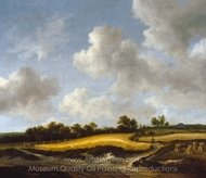 Landscape with a Wheatfield painting reproduction, Jacob Van Ruisdael