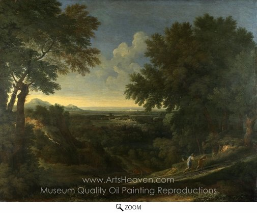 Gaspard Dughet, Landscape with Abraham and Isaac oil painting reproduction