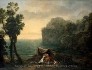 Landscape with Acis and Galatea painting reproduction, Claude Lorraine