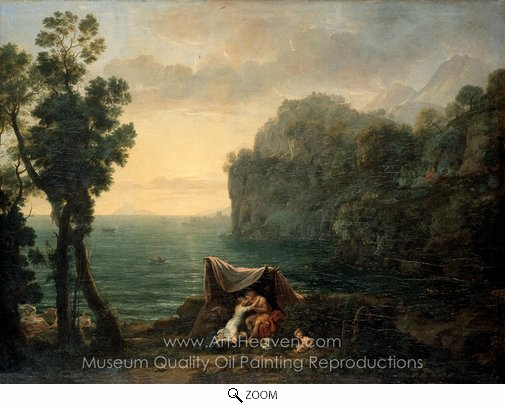 Claude Lorraine, Landscape with Acis and Galatea oil painting reproduction