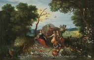 Landscape with Allegories of the Four Elements painting reproduction, Frans Francken
