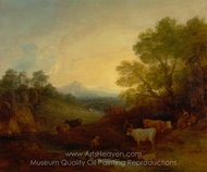 Landscape with Cattle painting reproduction, Thomas Gainsborough