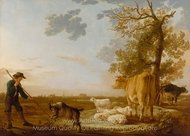 Landscape with Cattle painting reproduction, Aelbert Cuyp