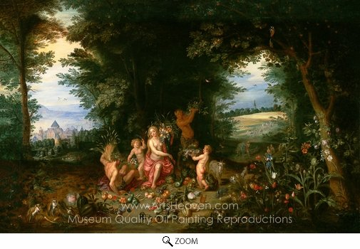 Jan Brueghel, Landscape with Ceres (Allegory of Earth) oil painting reproduction