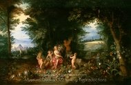 Landscape with Ceres (Allegory of Earth) painting reproduction, Jan Brueghel