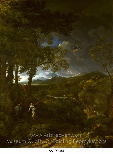 Gaspard Dughet, Landscape with Elijah and the Angel oil painting reproduction