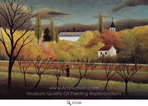 Henri Rousseau, Landscape with Farmer oil painting reproduction
