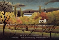 Landscape with Farmer painting reproduction, Henri Rousseau