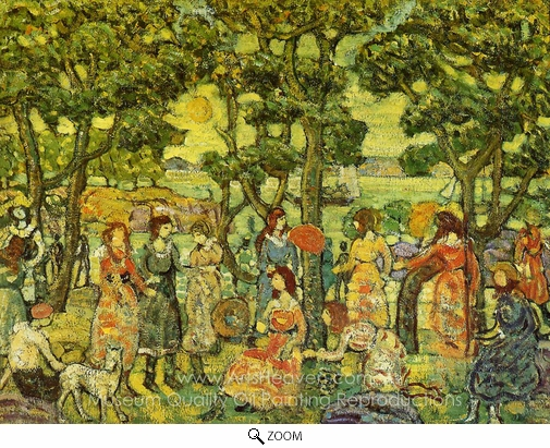 Maurice Prendergast, Landscape with Figures oil painting reproduction