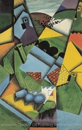 Landscape with Houses in Ceret painting reproduction, Juan Gris