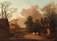 Landscape with Milkmaid painting reproduction, Thomas Gainsborough