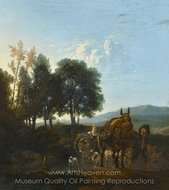 Landscape with Mule Driver painting reproduction, Karel Dujardin
