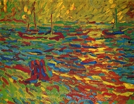 Landscape with River painting reproduction, Max Pechstein