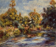 Landscape with River painting reproduction, Pierre-Auguste Renoir
