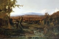 Landscape with Shepherd painting reproduction, Robert S. Duncanson