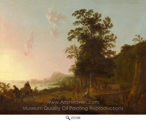 Aelbert Cuyp, Landscape with the Flight into Egypt oil painting reproduction