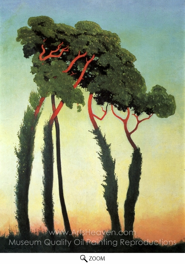 Felix Vallotton, Landscape with Trees oil painting reproduction