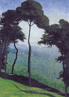 Landscape with Trees painting reproduction, Felix Vallotton