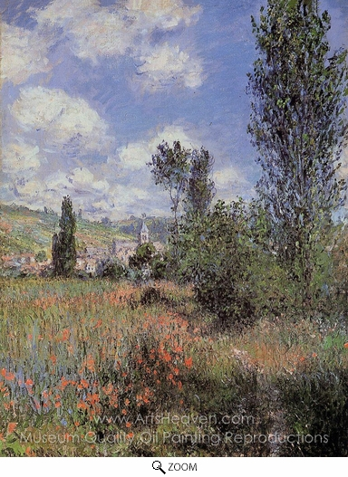 Claude Monet, Lane in the Poppy Field, Ile Saint-Martin oil painting reproduction