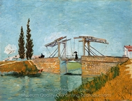 Langlois Bridge at Arles painting reproduction, Vincent Van Gogh