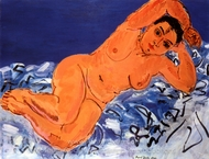 Large Blue Nude painting reproduction, Raoul Dufy