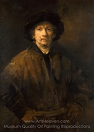 Large Self-Portrait painting reproduction, Rembrandt Van Rijn
