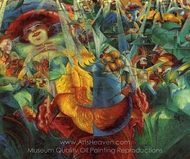 Laughter painting reproduction, Umberto Boccioni