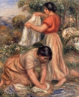 Laundresses painting reproduction, Pierre-Auguste Renoir