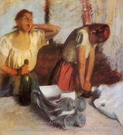 Laundry Girls Ironing painting reproduction, Edgar Degas
