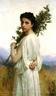 Laurel Branch (Branche de Laurier) painting reproduction, William A. Bouguereau