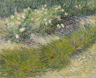 Lawn with Butterflies painting reproduction, Vincent Van Gogh
