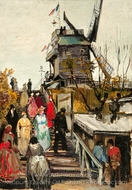 Le Blute-Fin Mill painting reproduction, Vincent Van Gogh