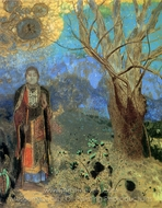 Le Bouddha (The Buddha) painting reproduction, Odilon Redon