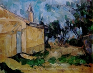 Le Cabanon De Jourdan painting reproduction, Paul C�zanne