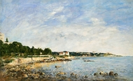 Le Cap, Antibes painting reproduction, Eugene-Louis Boudin