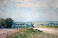 Le Chemin de Montbuisson a Louveciennes painting reproduction, Alfred Sisley