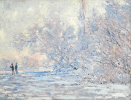Le Givre a Giverny painting reproduction, Claude Monet