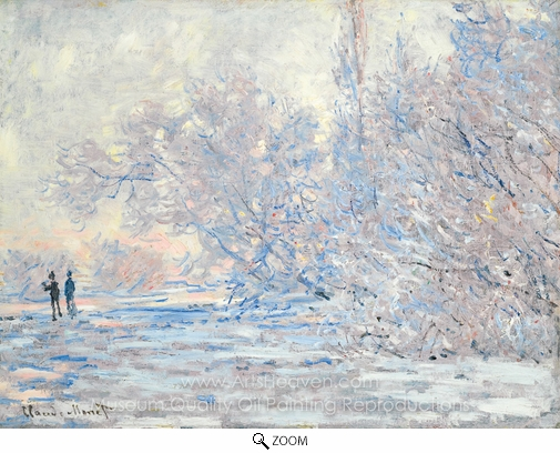 Claude Monet, Le Givre a Giverny oil painting reproduction