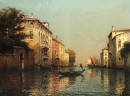 Le Grand Canal, Venice painting reproduction, Antoine Bouvard