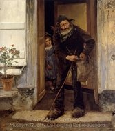Le Mendiant (The Beggar) painting reproduction, Jules Bastien-Lepage