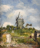 Le Moulin de la Galette painting reproduction, Vincent Van Gogh