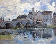 Le Pont de Moret painting reproduction, Alfred Sisley