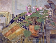 Le Pot de Fleurs (Pot of Flowers) painting reproduction, Edouard Vuillard