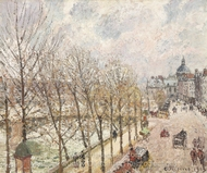 Le Quai Malaquais et l'Institut painting reproduction, Camille Pissarro