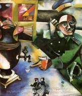 Le Soldat Boit painting reproduction, Marc Chagall (inspired by)
