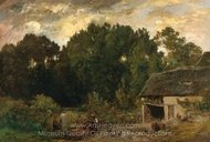 Le Tonnelier painting reproduction, Charles Daubigny