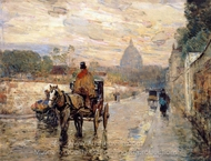 Le Val-de-Grace, Spring Morning painting reproduction, Childe Hassam