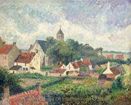 Le Village de Knocke painting reproduction, Camille Pissarro
